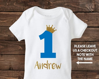 One Year Old Boy Custom Birthday Shirt