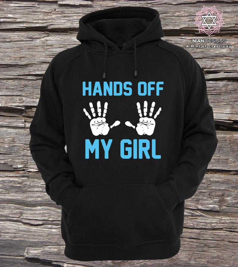 24d9abd7 Hands off my Girl and Hands off my Guy Matching Couple | Etsy