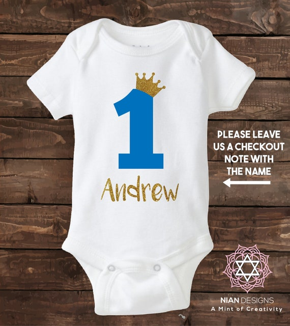 One Year Old Boy Custom Birthday Shirt