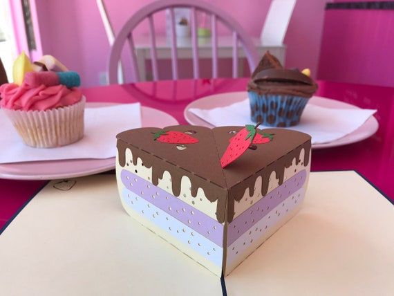 Terrific Birthday Cake Pop Up Card 3D Birthday Cake Card Happy Etsy Funny Birthday Cards Online Hendilapandamsfinfo
