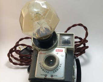 RepurposedKodak Starmite camera - lamp
