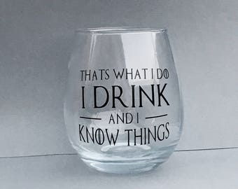 Game Of Thrones Themed Stemless Wine Glass - Tyrion Lannister