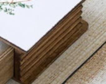 Floral Alphabet guest book Monogram Ring bearer box /& Guestbook Custom Wedding Ring Box set of 2 Personalized Floral Monogram wedding box