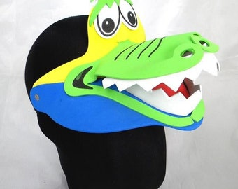 Crocodile Animal Zoo Farm Foam Visor Hat Cap Costume Party Fancy Dress  Photo Booth Prop Set Birthdays Weddings Baby Kids Child Adults