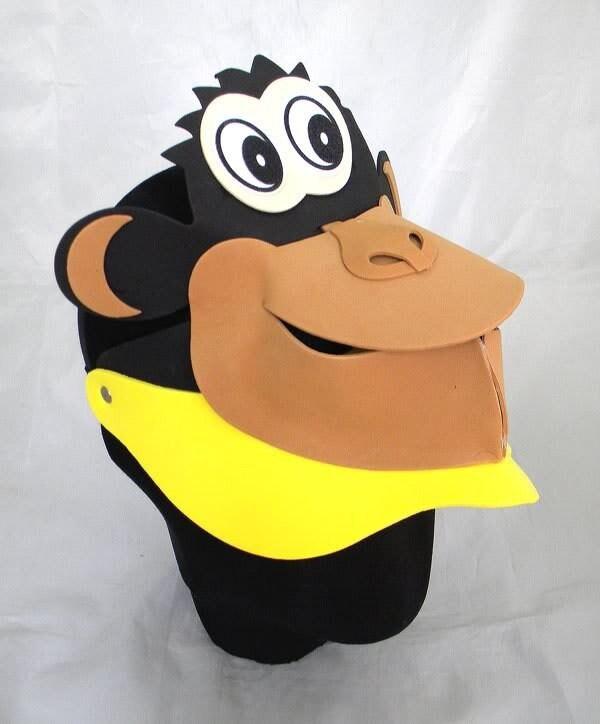 6a104b6d Monkey Animal Zoo Farm Foam Visor Hat Cap Costume Party Fancy | Etsy