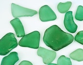20 Authentic Aquamarine Sea Glass Mixed Glass Pieces Arts and Crafts Gems Ocean wave tumbled