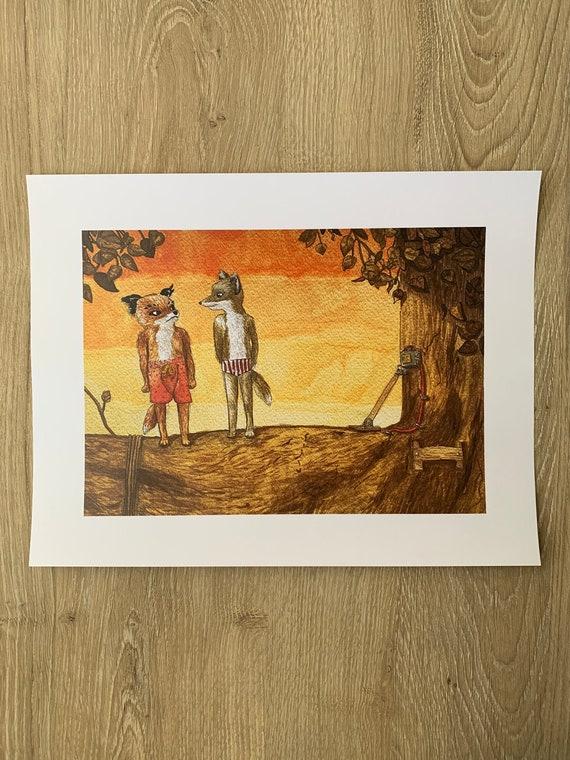 Fantastic Mr Fox Diving Scene Art Print Etsy