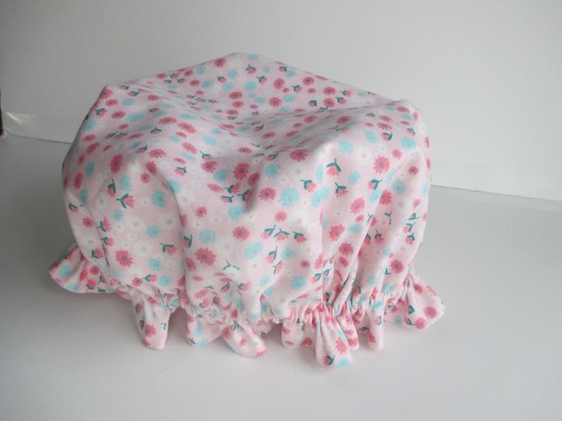vintage inspired girls/' sleeping cap sleeping cap girl/'s cap pink heart nightcap girls/' sleepwear