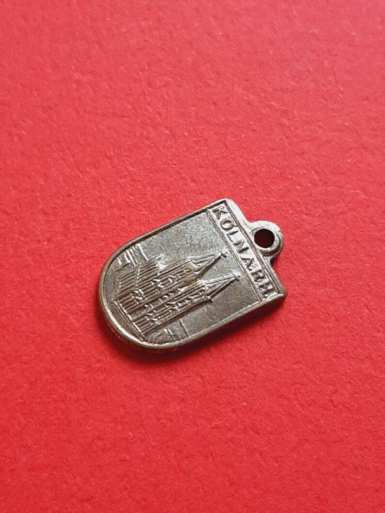 medal pendant Europe Keulen Cologne K\u00f6ln am Rhein Germany Vintage travel shield charm