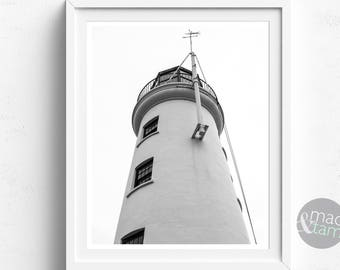 Nautical Decor, Lighthouse, Coastal Decor, Lighthouse Decor, Black And White, PRINTABLE Art, Nautical Wall Art, Beach Decor, Coastal Art