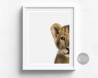 554ddd4ca2ddc Peekaboo Lion Cub Print