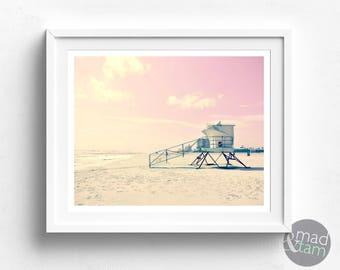 Beach Art Print, Beach Wall Art, Printable Beach Art, Beach PRINTABLE, California Beach Art, Beach Prints, Beach House Decor, Beach Decor