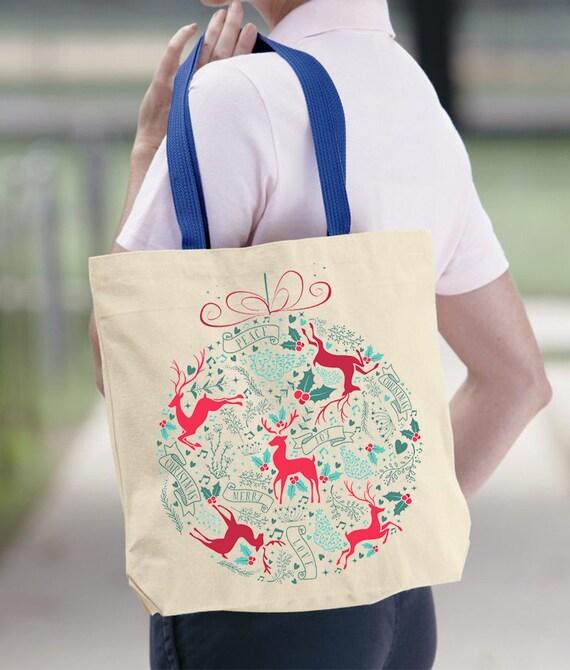 Funny CHRISTMAS TOTE Organic Tote BAG Large Organic Christmas Bag Funny Christmas Gift Lets Get Lit Tote Funny Bag Gift for Girlfriend