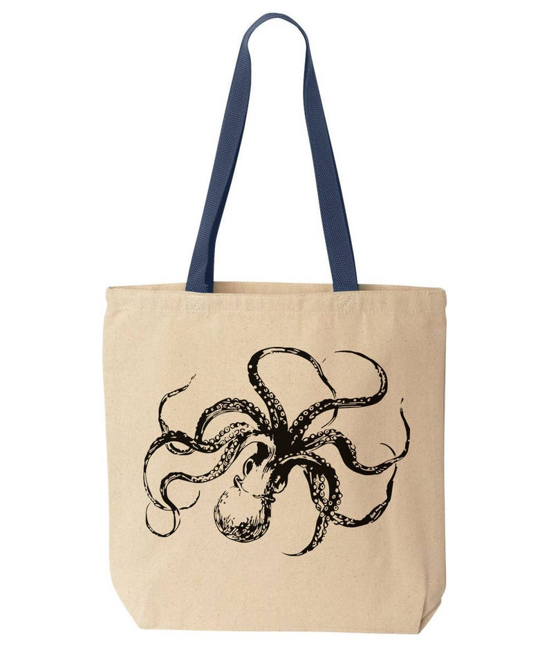 d8f4c5c8b Octopus Canvas Tote. Reusable Eco Friendly Tote Bag. Funny | Etsy