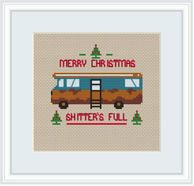 Gift. Christmas Vacation Quotes Kit Merry Christmas Shitter/'s Full Embroidery Kit Cross Stitch Kit Cross Stitch Set Christmas Vacation
