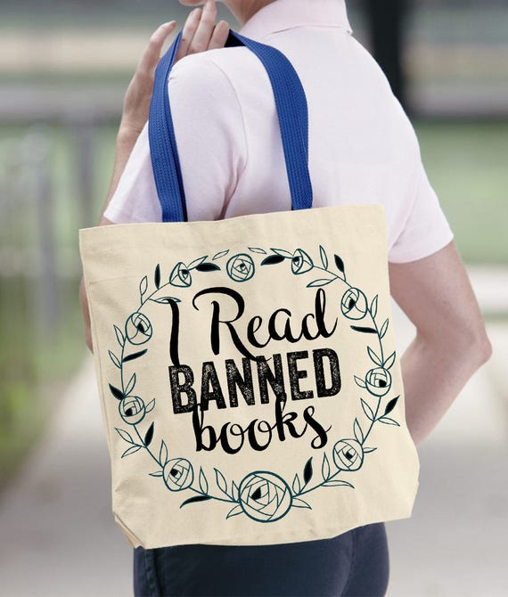 405b4ca9a4f3 I Read Banned Books Canvas Tote. Reusable Eco Friendly Tote