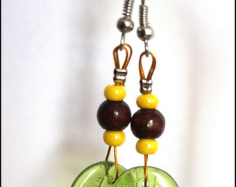 Yellow nature earrings