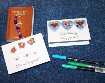 Single Blank Note Card, words of encouragement, crochet designs, teacher gift, gift for mom, Easter basket, Holy Family, butterflies