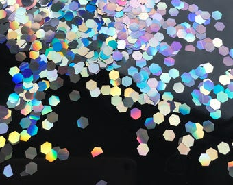 Silver Holographic Chunky Glitter Discs 6mm