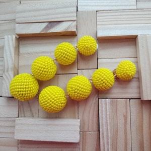 handmade light pink 6 six balls Bon Bon clip on earrings,skinny black gold silver red blue green white purple yellow beaded Les bonbons