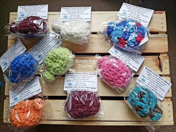 Crochet unique eau eau réutilisable ballons ballons-Eco-Friendly Ballons Latex ballons libres