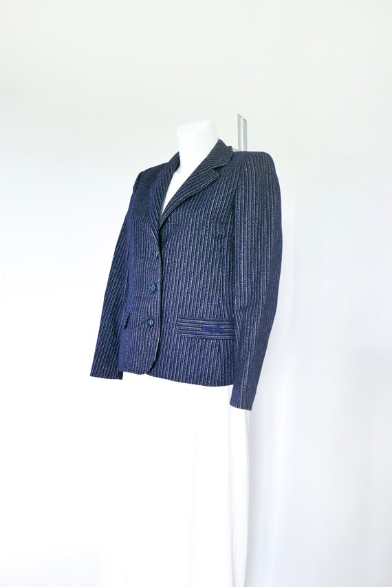 Blazer-Jacket-Vintage Woolen Short Cropped Jacket-