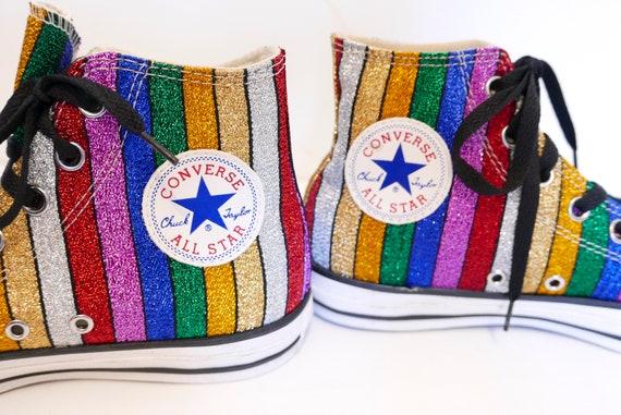 8464b23b729f Rare Multicolor patterned Converse-Flat Shoes-Unique
