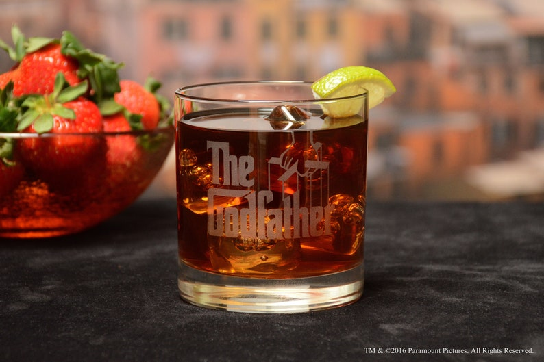 The Godfather Movie Engraved Logo Cocktail Glass, The Godfather Mug,  Godfather Glass, Godfather Gift, Godparent Gift
