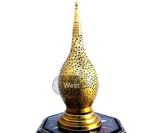 Morrocan Bronze table Lamp lighting, Handmade Table lamp, lamp shade, Handmade Lighting, bohemian decor, Bedside lamp decor, bedside lights.