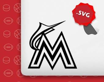 Miami Marlins Svg Logo Silhouette Vector Team Files