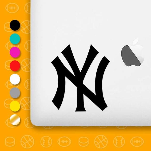 New York Yankees Logo Laptop Vinyl Decal Ny Yankees Mlb Etsy