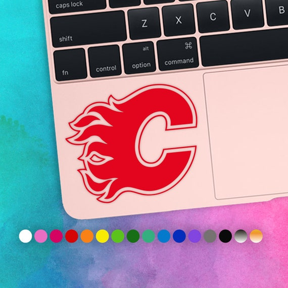 50 Off Calgary Flames Ice Hockey Laptop Vinyl Decal Etsy