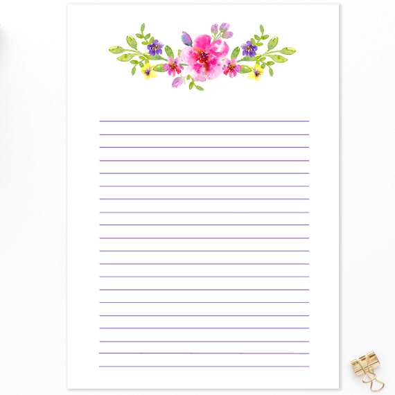 picture regarding Printable Note Paper named Printable A4, Covered Observe, Paper Immediate Obtain, A4 Planner, Notes Web page, Watercolour Floral, Composing Paper, Toward Do Checklist, Printable, PDF, JPG