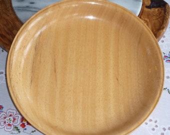 "YELLOW PHILLIPINES LUAN - 10"" x 1.5"" oiled dish - 4170"