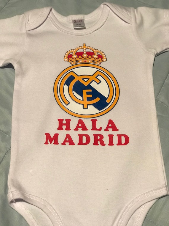 5be354dda Real Madrid baby bodysuit Hala Madrid baby bodysuit