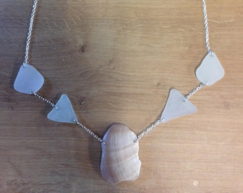 20527950e2bd Necklace with Sea Shell and Sea Glass