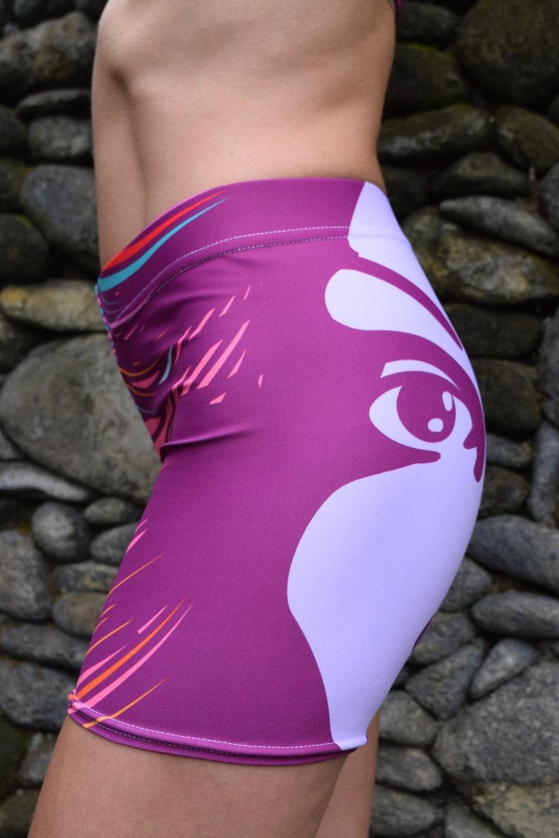 f0bf776b3b1a3e Purple Divine Shorts Yoga Shorts Disco Vintage Purple