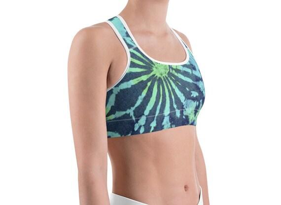 e2b8ea4efae443 Tie Dye Bra Yoga Bralette Namaste Sports bra workout bra