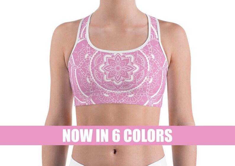 e2ca50cbc2110f Mandala Bra Yoga Bralette Namaste Sports bra workout bra