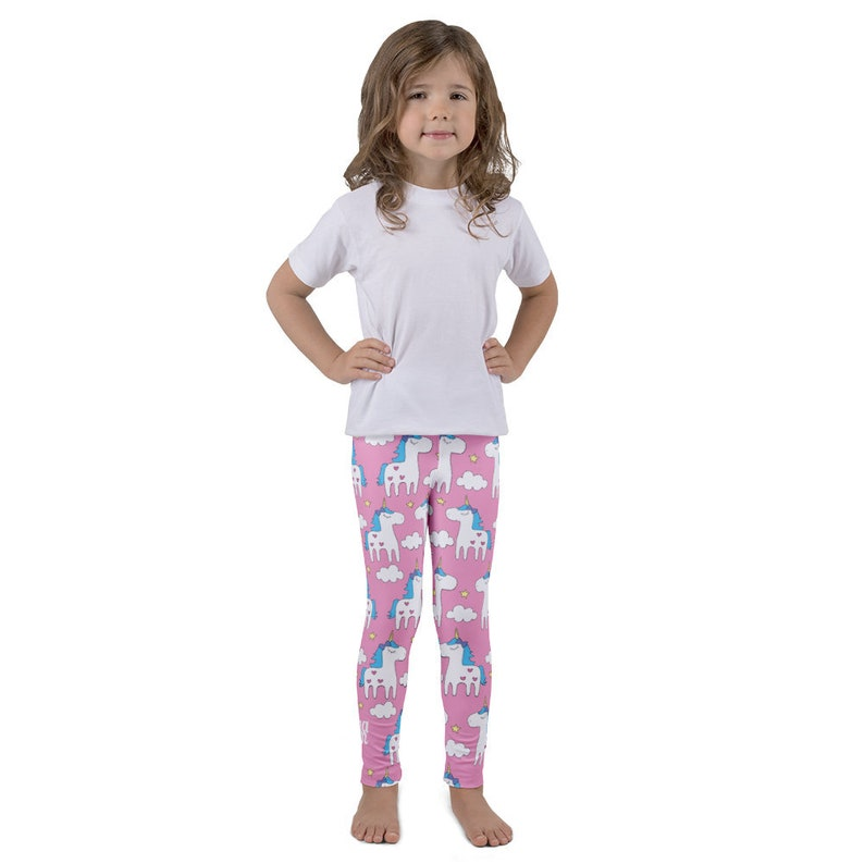 f310464322e Pink Unicorn Kids Leggings Unicorn leggings Fairy Leggings