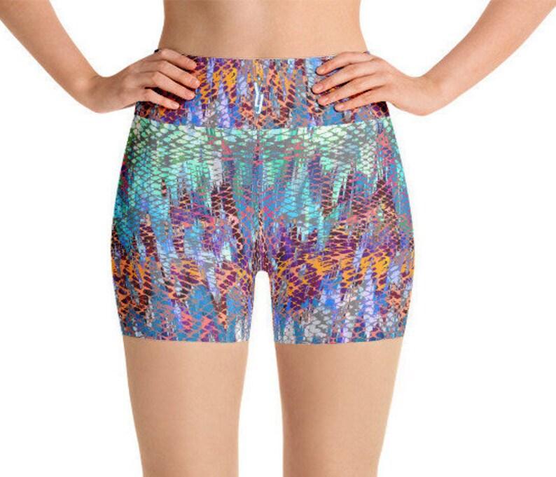74a63667a2335c Exotic Snake Shorts Yoga Shorts Yoga Pants Boho Shorts
