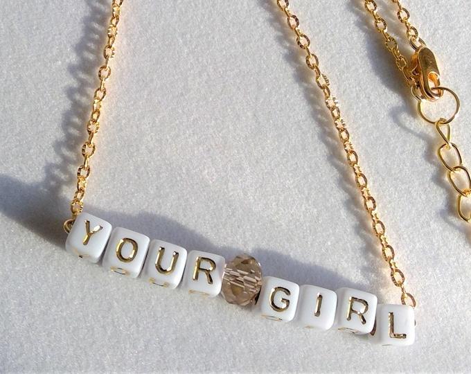 """""""Your Girl"""" Halskette 18k vergoldet"""
