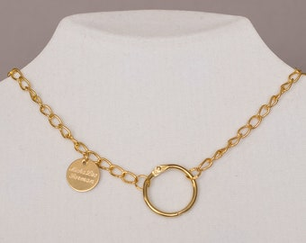 Necklace 22k Gold plated with ring closure
