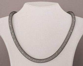 925 Sterling Silber Collier mit Swarovski Kristallen