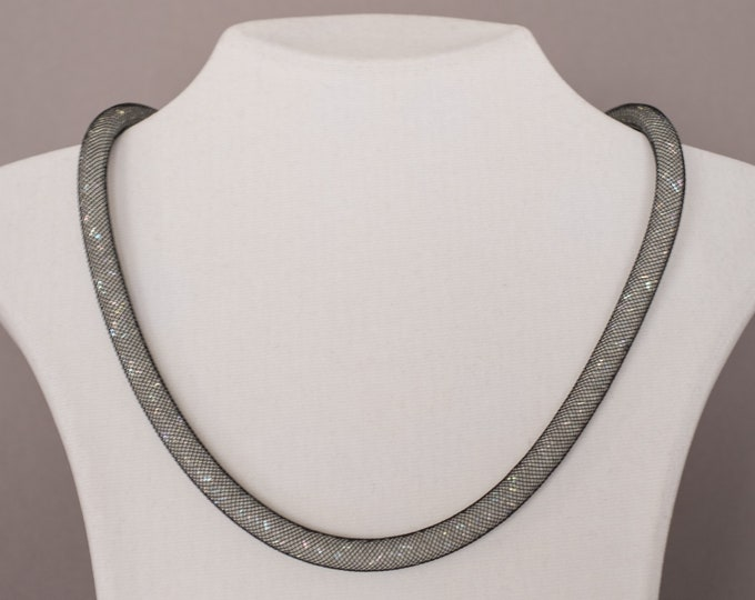925 sterling silver necklace with Swarovski crystals, very classy elegant, for ladies for women, for job, for business