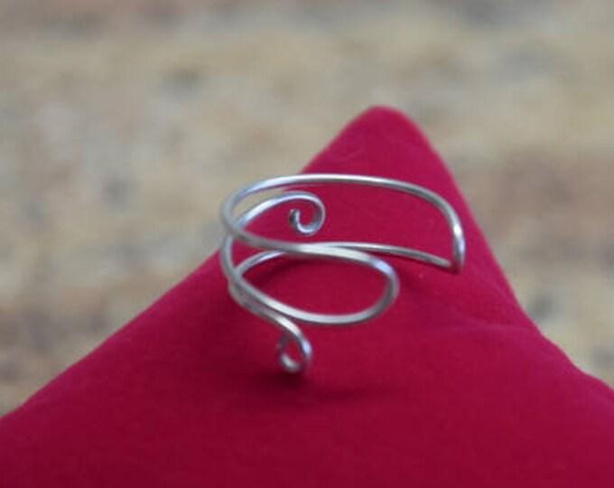 Ring aus Silber Schmuckdraht filigran
