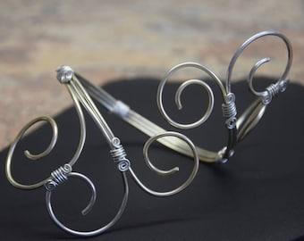 Design Draht- Armreif in silber & gold