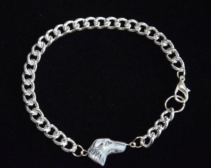 Windhund Silber Panzerkette Armband