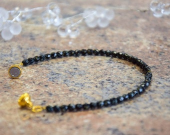 Natural stone travertine Simple bracelet with gilded magnetic clasp, for women women Girls, as a gift