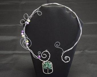 Aventurin Design Collier silber